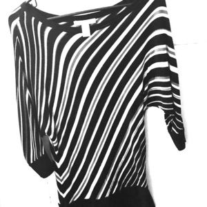 Women's 3/4 Sleeve Striped Blouse